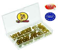 EXC Gumové Korálky Rubber Beads Set 100ks