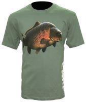 Zfish Tričko Carp T-Shirt Olive Green M