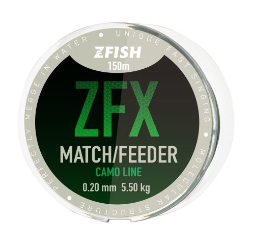 ZFISH vlasec ZFX Match/Feeder CamoLine 150m